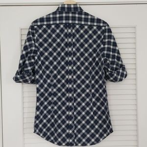 Express Shirts - Express Fitted Shirt Sleeve Roll 14-14½ Gingham